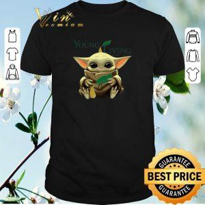 Pretty Baby Yoda hug Young living essential oils Star Wars shirt sweater