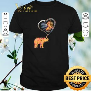 Pretty Elephant Multiple Sclerosis Awareness hope love never give up shirt
