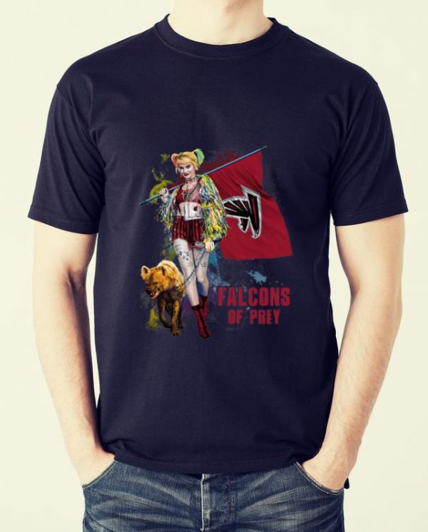 Pretty Harley Quinn Atlanta Falcons Of Prey Atlanta Falcons Flag shirt