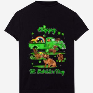 Pretty Leprechaun Driving Truck Dachshund St Patricks Day Gift shirt