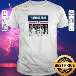 Pretty Team USA 2020 Finalists Kyle Kuzma Lebron James signatures shirt sweater