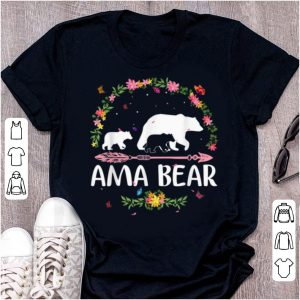 Awesome Ama Bear Flowers Matching Family Bear Mothers Day Gift shirt