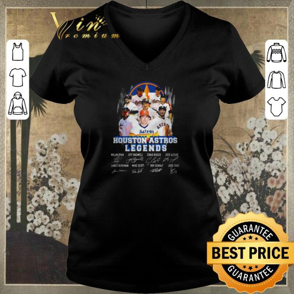 Awesome Houston Astros Legends signatures Nolan Ryan Jeff Bagwell shirt sweater