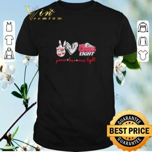 Awesome Peace love Coors Light shirt sweater