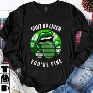 Awesome Retro Shamrock St Patricks Day Lips Phone Grip Women shirt