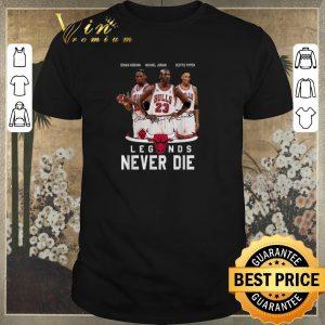 Funny Chicago Bulls logo signatures legends never die shirt sweater