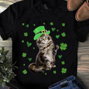 Great Shamrock Leprechaun Cat St Patricks Day Irish Gift Men Women shirt