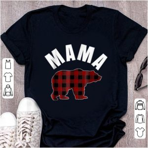 Hot Birthday Gifts Mama Bear Buffalo Plaid Best Mom shirt