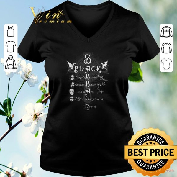 Hot Black Sabbath Logo The Rules Of Hell Paranoid signatures shirt sweater