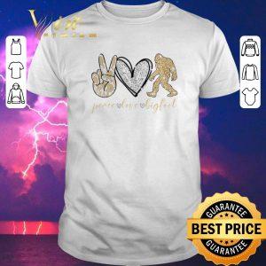 Hot Glitter peace love bigfoot shirt sweater
