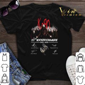 Korn logo 27th Anniversary 1993-2020 Signatures shirt sweater