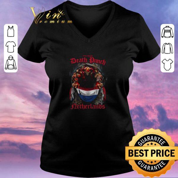 Nice Five Finger Death Punch Netherlands flag shirt sweater