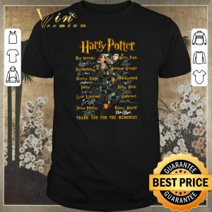 Nice Harry Potter Logo characters signed thank you for the memories shirt sweater