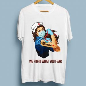 Nice Strong Nurse Tattoo We Fight What You Fear shirt