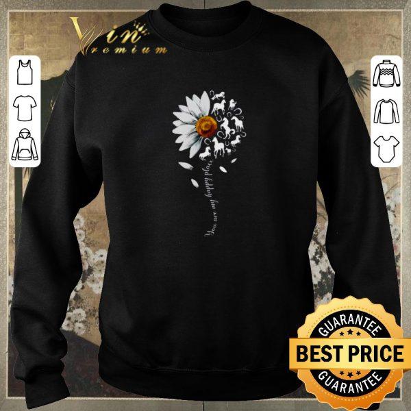 Nice White flowers horses you are my sunshine shirt sweater