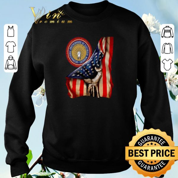 Official American Flag International Brotherhood Of Electrical Workers shirt sweater