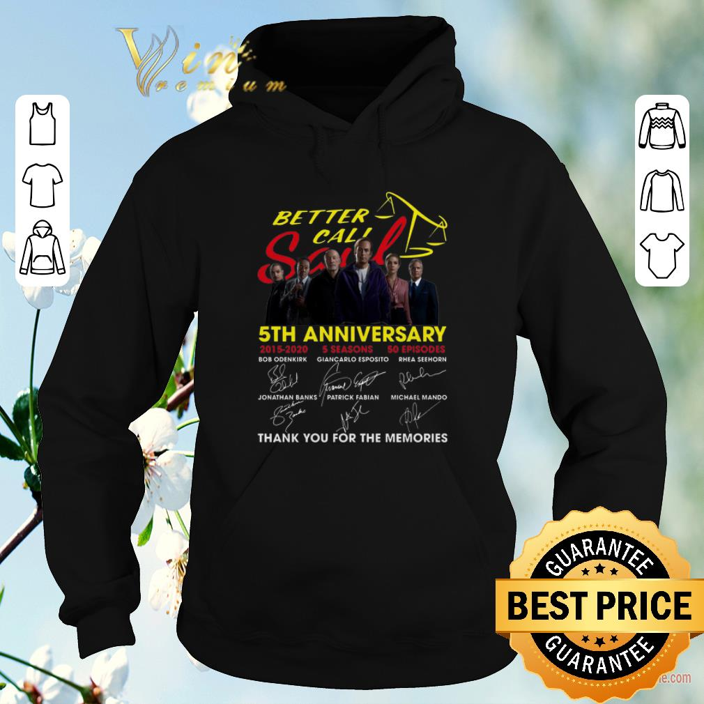 Official Better Call Saul 5th anniversary signatures shirt sweater 4 - Official Better Call Saul 5th anniversary signatures shirt sweater