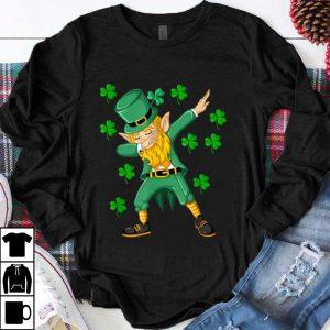 Official Dabbing Leprechaun St Patricks Day Funny Boys Men Gift shirt