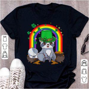 Official Irish Leprechaun Raccoon Funny St. Patrick's Day shirt