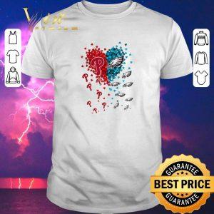 Original Love Philadelphia Phillies Philadelphia Eagles tiny hearts shape shirt sweater