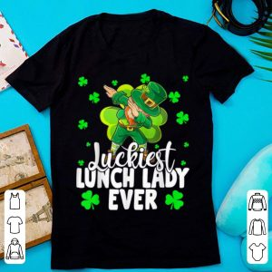 Original Luckiest Lunch Lady Ever Leprechaun St Patrick's Day Gifts shirt