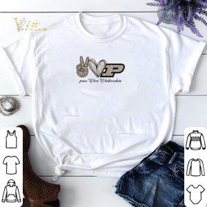 Peace Love Purdue Boilermakers logo shirt sweater