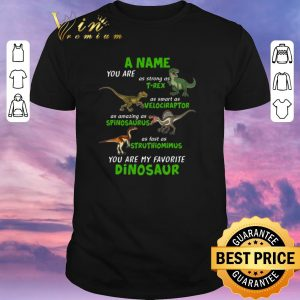 Premium A Name You Are As Strong As T-rex As Smart As Velociraptor shirt sweater