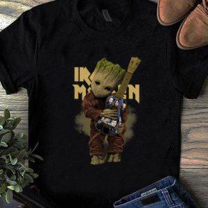Premium Baby Groot Hug Iron Maiden Guitar shirt