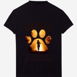 Premium Easily Distracted By Dogs And Running shirt
