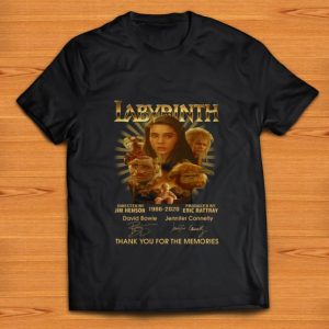 Premium Labyrinth 1986 2020 Thank You For The Memories Signatures shirt