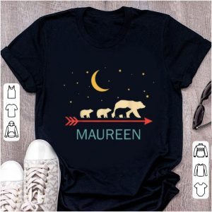 Premium Maureen Name Gift Personalized Mama Bear With 3 Cubs shirt