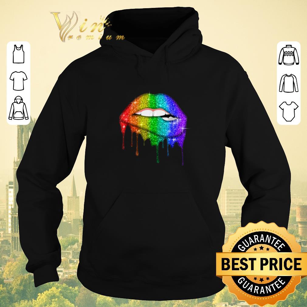 Pretty Glitter Lips Pride Gay Lesbian Transgender LGBT Colors shirt sweater 4 - Pretty Glitter Lips Pride Gay Lesbian Transgender LGBT Colors shirt sweater