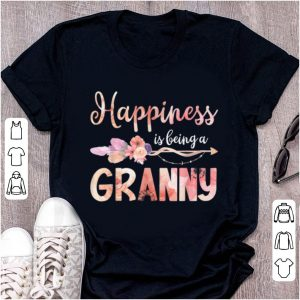 Pretty Happiness Is Being A Granny Floral Mother's Day Grandma Gift shirt