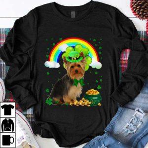 Pretty St Patricks Day Yorkie Shamrock Pet Dog Lover shirt