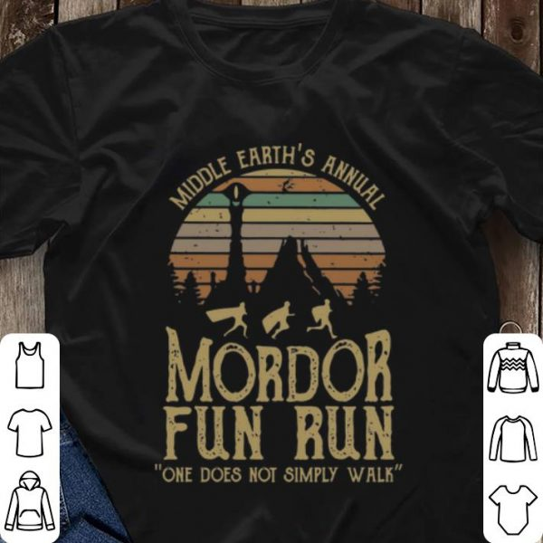 Nice Vintage Middle Earth's Annual Mordor Fun Run shirt