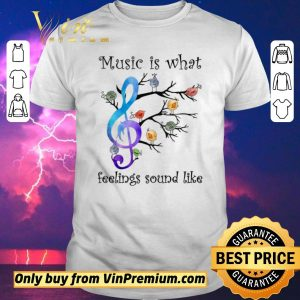 Top The Bird Music Is What Feelings Sound Like shirt sweater