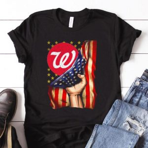 Top Walgreens America Flag shirt