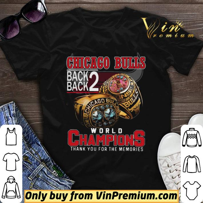 Chicago Bulls Back Back World Champions Thank You For The Memories shirt sweater