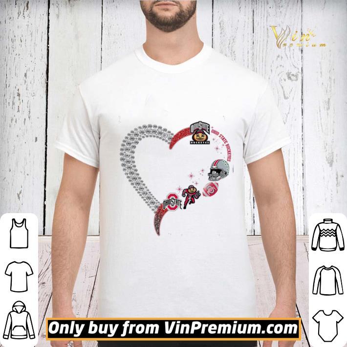 Diamond Heart Ogio State Buckeyes shirt sweater