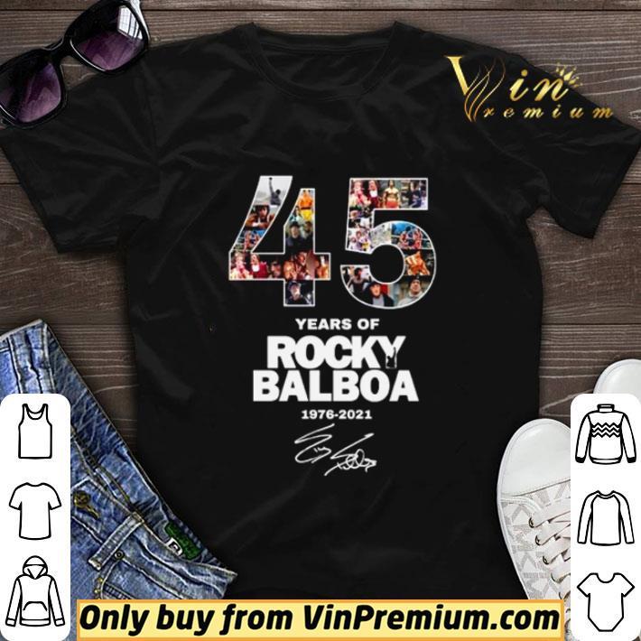 45 years of Rocky Balboa 1976 2021 signature shirt sweater