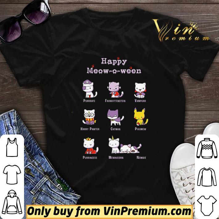 Cats Happy meow-o-ween Halloween shirt sweater