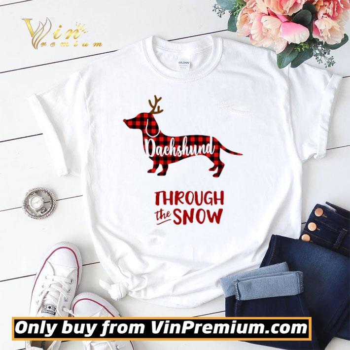 Dachshund Merry Christmas Through The Snow shirt sweater
