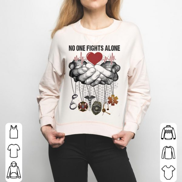 CNA No One Fights Alone shirt