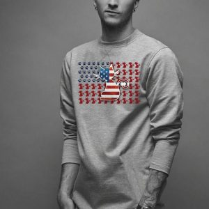 Cat America flag shirt