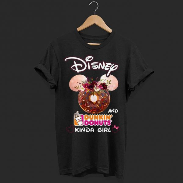 Mickey Mouse Disney and Dunkin' Donuts kinda girl shirt
