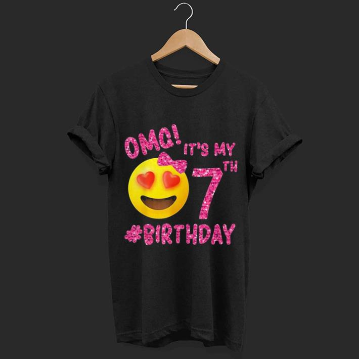 4b2f68f95 ... year old kids t; it s my 7th birthday shirt hoo sweater longsleeve t  shirt ...