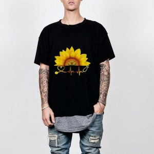 Sunflower With A Nurse Heartbeat Hippie shirt