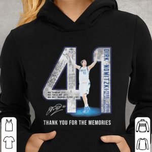 41 Dirk Nowitzki Jerseys signature thank you for the memories shirt 2