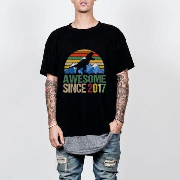 Awesome since 2017 Dinosaur vintage shirt