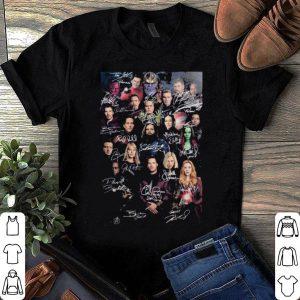 Best Marvel Avenger End game poster singnature shirt